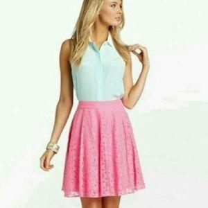 Lilly Pulitzer Pink daisy lane skirt